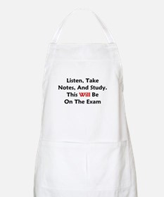 This Will Be On The Exam Apron