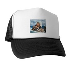 A brid may love a fish Trucker Hat
