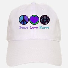 Peace Love Nurse Baseball Baseball Cap