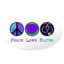 Peace Love Nurse Decal