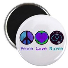 Peace Love Nurse Magnet