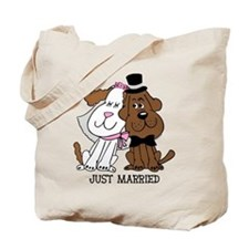 Newlywed Dogs Tote Bag