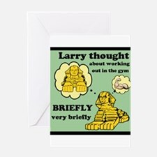 Larry and the Gym Greeting Card