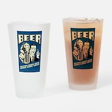 Beer Helping White Guys Dance Drinking Glass