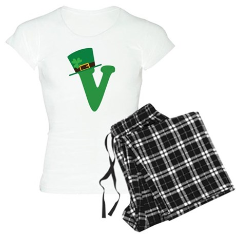 St. Patrick's Day Letter V Women's Light Pajamas