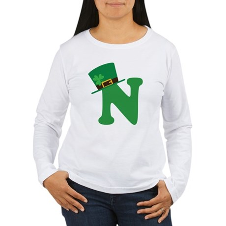 St. Patrick's Day Letter N Women's Long Sleeve T-S