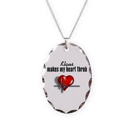 Klaus makes my heart throb Necklace Oval Charm