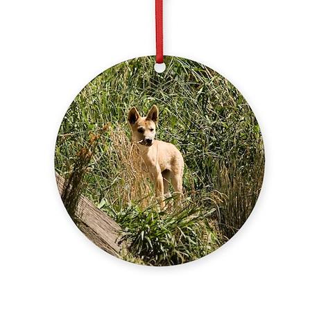 Dingo Puppy Ornament (Round)
