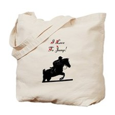 I Love to Jump! Horse Tote Bag