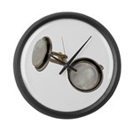 Set of Cuff Links Large Wall Clock