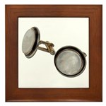 Set of Cuff Links Framed Tile