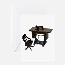 Sewing Machine Chair Greeting Card