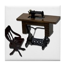 Sewing Machine Chair Tile Coaster
