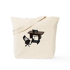Sewing Machine Chair Tote Bag