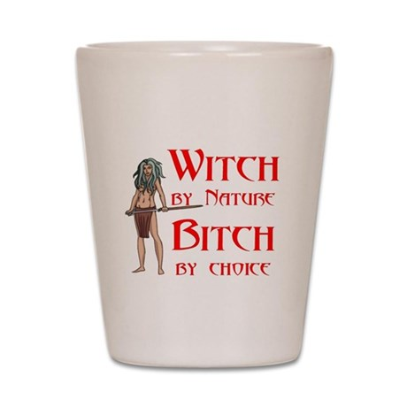 Witch by Nature Shot Glass