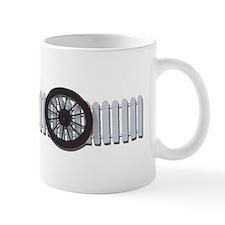 Stage Coach Wheel White Picke Mug