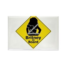 Britney on Board Rectangle Magnet