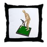 Using Hoe on Grass Throw Pillow