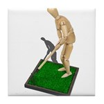 Using Hoe on Grass Tile Coaster