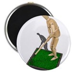 Using Hoe on Grass Magnet