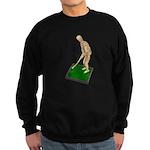 Using Hoe on Grass Sweatshirt (dark)
