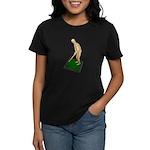 Using Hoe on Grass Women's Dark T-Shirt
