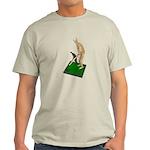 Using Hoe on Grass Light T-Shirt