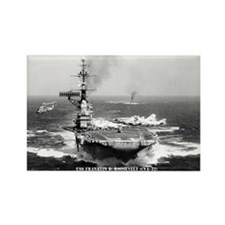 USS FRANKLIN D. ROOSEVELT Rectangle Magnet