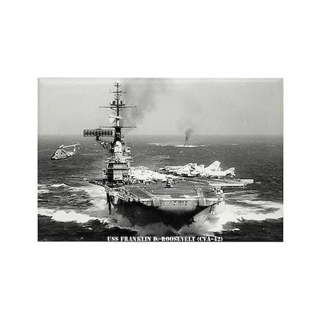 USS FRANKLIN D. ROOSEVELT Rectangle Magnet