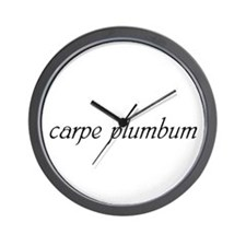 Carpe Plumbum Wall Clock