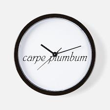 Carpe Plumbum Wall Clock