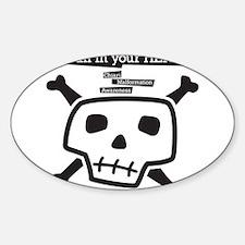 Cool Zipper Sticker (Oval)