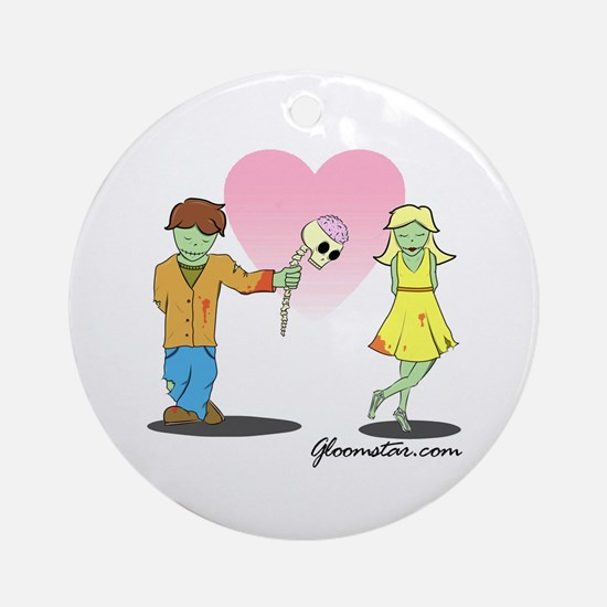 Young Zombie Love Ornament (Round)