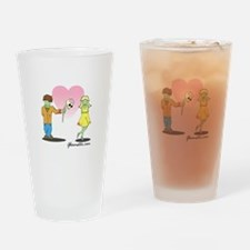 Young Zombie Love Drinking Glass