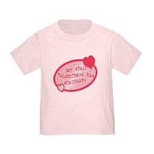 First Valentine Birthday PINK T