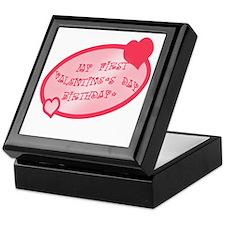 First Valentine Birthday PINK Keepsake Box