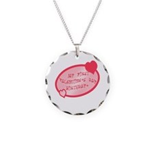 First Valentine Birthday PINK Necklace