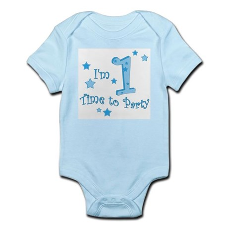 First / 1st birthday baby boy Infant Creeper