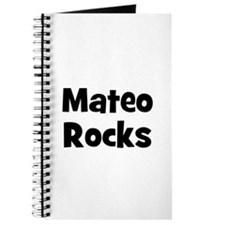 Mateo Rocks Journal