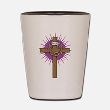 Funny Cross and crown Shot Glass