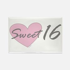 PINK Sweet 16 Birthday Rectangle Magnet