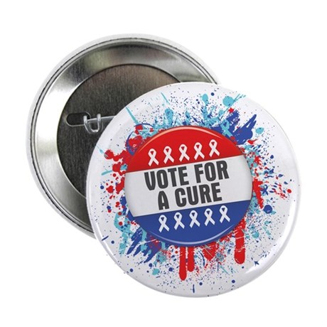 """Vote for a Cure For Cancer 2.25"""" Button (10 pack)"""