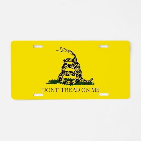 Don't Tread on Me Aluminum License Plate