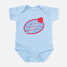 First Valentine Birthday BLUE Infant Bodysuit