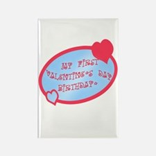 First Valentine Birthday BLUE Rectangle Magnet