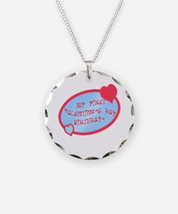 First Valentine Birthday BLUE Necklace