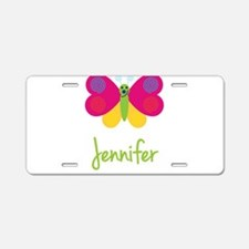 Jennifer The Butterfly Aluminum License Plate