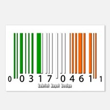 Barcode Irish Flag Postcards (Package of 8)