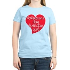 Valentine Day Birthday Girl T-Shirt