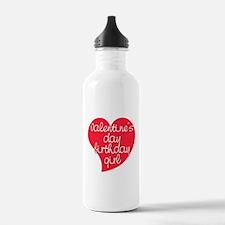 Valentine Day Birthday Girl Water Bottle